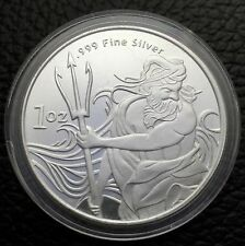 Trident Silver Neptune Greek God Of the Ocean 1 Troy oz .999 Fine Silver Coin