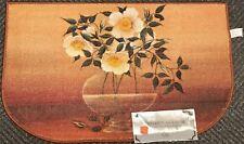 "PRINTED NYLON KITCHEN RUG (nonskid) (18"" x 30"") A VASE OF FLOWERS, D Shape, AH"