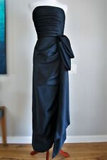 VICTOR COSTA Formal Black Tulip Ball Gown Strapless Vintage Big BOW USA 2-4 XS