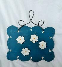 Chalk Board Magnet Sign Blue Flowers Upcycled Antique Barn Tin Metal BarnStorm