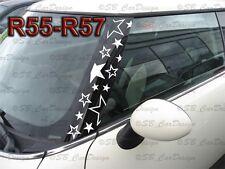 A-Säulen STERNE Aufkleber Pillar STARS Decal f. BMW MINI COOPER R56 One Works