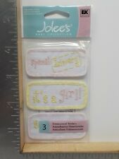 JOLEE'S BOUTIQUE GIRL QUILTS BABY DIMENSIONAL STICKERS NEW A9322