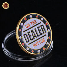Zinc Alloy Metal Dealer Button Chip Pressing Guard Poker Cards Protects Souvenir