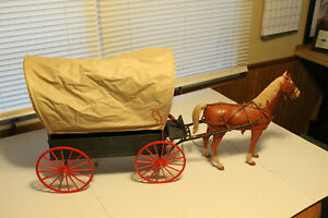 marx johnny west covered wagon
