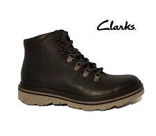 CLARKS FRELAN ALP BLACK GENUINE LEATHER HIKING WALKING BOOTS MENS UK 6.5 EU 40