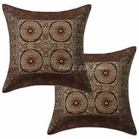 Indian Brocade Silk Pillow Case Cover Home Decorative Throw Cushion Cover 16""