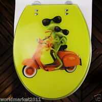 New European Style High-Grade Frog Prince Printed Resin Bathroom Toilet Seat