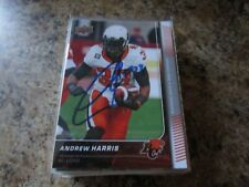 Andrew Harris SIGNED 2015 UPPER DECK CFL FOOTBALL card #17 BC LIONS