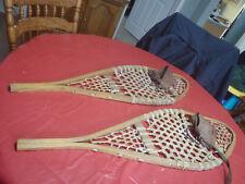 snow shoes wooden set