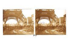 Paris Exposition coloniale 1931 Tour Eiffel Photo Stéréo verre Positif