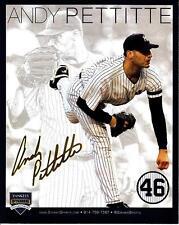 ANDY PETTITTE NEW YORK YANKEES PHOTO RETIREMENT CARD SGA 8/23/15 2015 STADIUM NY