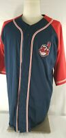 Vintage CLEVELAND INDIANS Button Up JERSEY Shirt Size Adult XL Pro Player MLB