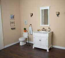 36 in Single sink vanity-wood-white *Free Shipping*