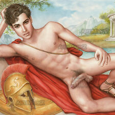 SOSTRATUS OF DYME - Fine Art Ltd. Ed. PRINT- GAY INTEREST MALE NUDE - Realism