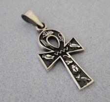 Mexican 925 Silver Taxco Egyptian Ankh Cross of Life Good Luck AMULETS Pendant