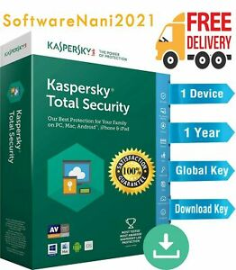 KASPERSKY TOTAL SECURITY 2021 - 1 Year - 1 Device - Global Key