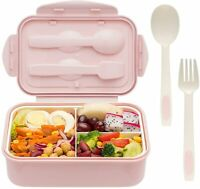 Bento Boxes for Adults - 1400 ML For Kids Childrens With Spoon & Fork - BPA-Free