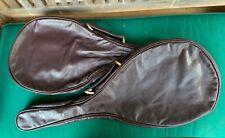 2 vtg rare PRINCE SOVEREIGN leather tennis cover supple espresso brown & BORON