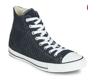 Converse Chuck Taylor All Star Wide Wale Cord Hi Blue Size 8 /Eur 41.5