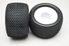 86022-W Paire Roues Complet Truggy 1/8 Himoto Hexagone Interne 17mm Cercle Bia