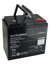12V 62AH (55AH & 60AH) Ultramax 62-12 AGM/GEL Mobility Battery & Backup Systems