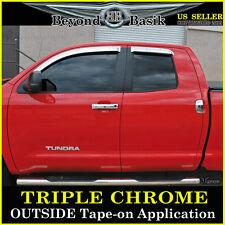 07-17 Tundra Extended Cab 4 Door Chrome Vent Window Visors Shade Rain Guards