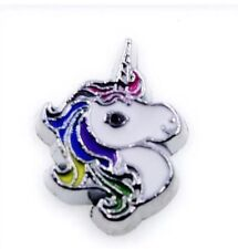 Color Unicorn Pony Floating Charm Fit Living Memory Owl Charms Locket