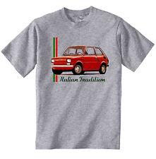 FIAT 126 1972 Ispirato-Nuovo T-Shirt grigio Cotone-Tutte le taglie in magazzino