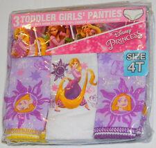 New Disney Tangled Rapunzel Purple Toddler Girls Panties Underwear Sz 4T