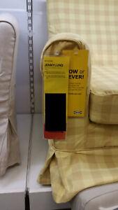 IKEA Ektorp Jennylund Armchair Slipcover SKAFTARP Yellow Checked Chair Cover