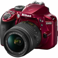 Nikon D3400 24.2MP Cámara Digital - Rojo (AF-P DX 18-55 VR Kit de lentes)