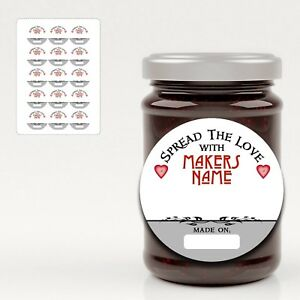 Kendal 001 PERSONALISED WEDDING JAM PRESERVE LABELS ROUND OVAL SQUARE RECTANGLE