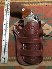 "Fit S&W M 66 19 10 Ruger Security Six Taurus 66 627 4"" Western Leather Holster"