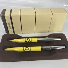 Bell Telephone YELLOW PAGES VTG Sheaffer Pen Pencil Set  Advertising Click Clip