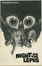 NIGHT OF THE LEPUS • 1972 • JANET LEIGH • 16 pg • Unfolded, Complete • FINE