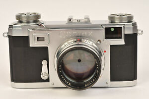 Contax IIa 35mm Rangefinder Film Camera Colour Dial with Zeiss Sonnar 50mm f/1.5