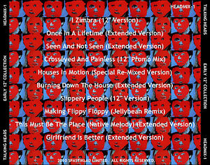 """TALKING HEADS   """"Early 12"""" Versions""""  (10 Mixes Not On """"12 x 12""""!) Punk/New Wave"""