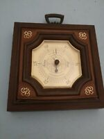 "Vintage Barometer Thermometer Hygrometer 7 1/2"" x 7 1/2"" Springfield U.S.A."