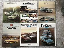 6 X 1970s CHEVROLET WAGONS CAR BROCHURES