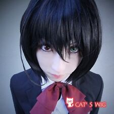 Another Mei Misaki Black Cosplay Wig