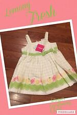 Nwt Gymboree Lemony Fresh Dress Set 2 Piece 3-6 Months