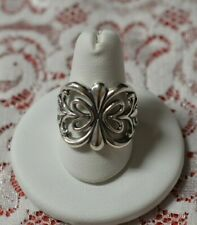 Flower Design Ring Size 10.25 Carlolyn Pollak Relios Cut Out