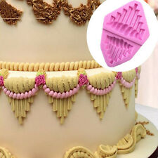 Flower Lace Silicone Fondant Mold Cake Border Decoration Sugar Icing Paste Mould