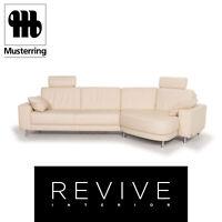 Musterring Leder Sofa Creme Ecksofa #13023