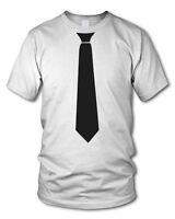 T-SHIRT mit KRAWATTE - Fun-Shirt - versch. Farben  S-XL