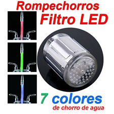 Filtro Grifo LED 7 Colores ★Ahorra Agua - Sin pilas ★ Tap Faucet ★ No batteries