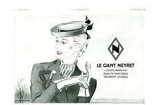 """Publicité Ancienne """" Gant NEYRET   """" 1938 (  P 14 + 16 ) G. Cazenove"""