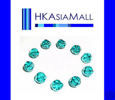 10 Swarovski Crystal Beads Round 5000 BLUE ZIRCON 6mm