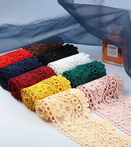 40 DESIGNS! Embroidered Venise Lace Edging TRIM Sewing Craft Upholstery Costume