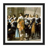 Frans Hals Militia District Xi The Meagre Company Square Framed Wall Art 16X16
